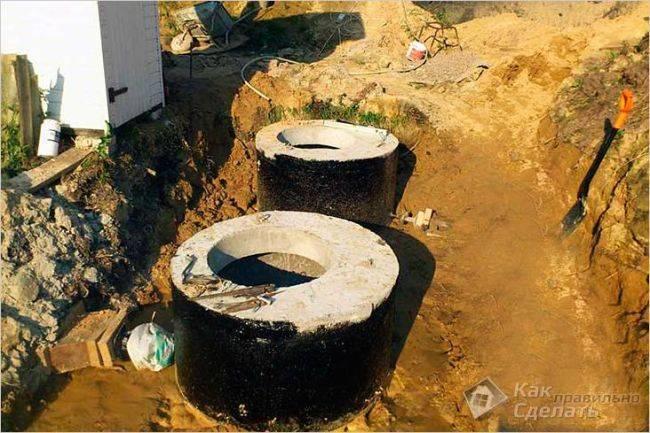 Герметизация и гидроизоляция септика бетонной конструкции