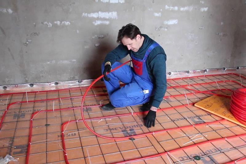 Монтаж водяного теплого пола своими руками: видео, схемы, технология | строительный блог вити петрова