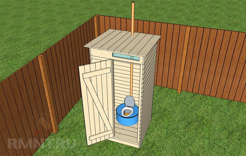 Монтаж вентиляционной системы дачного туалета