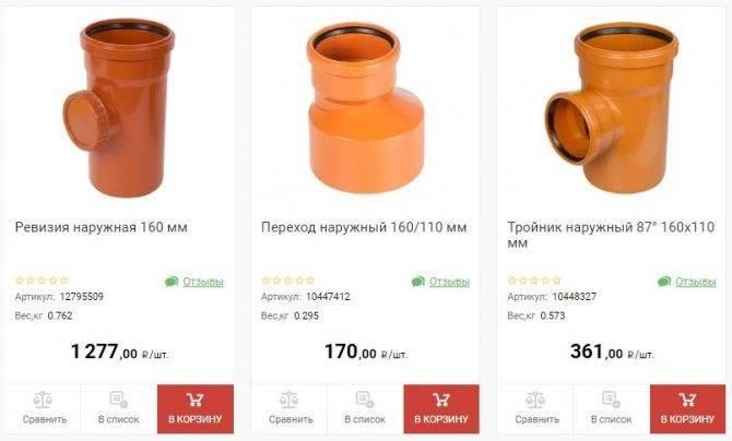 Канализационные трубы 160 мм
