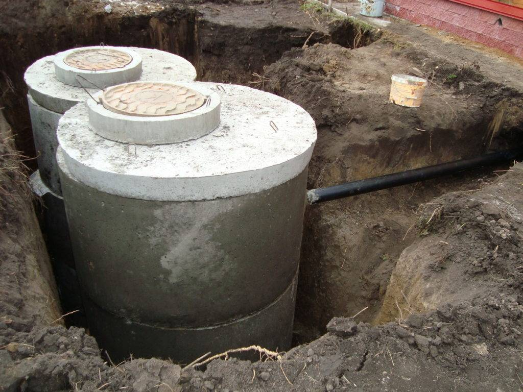 Септик из бетонных колец - 105 фото проектов и советы от опытных строителей