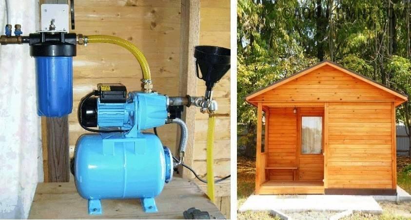 Автономное водоснабжение и канализация на даче.