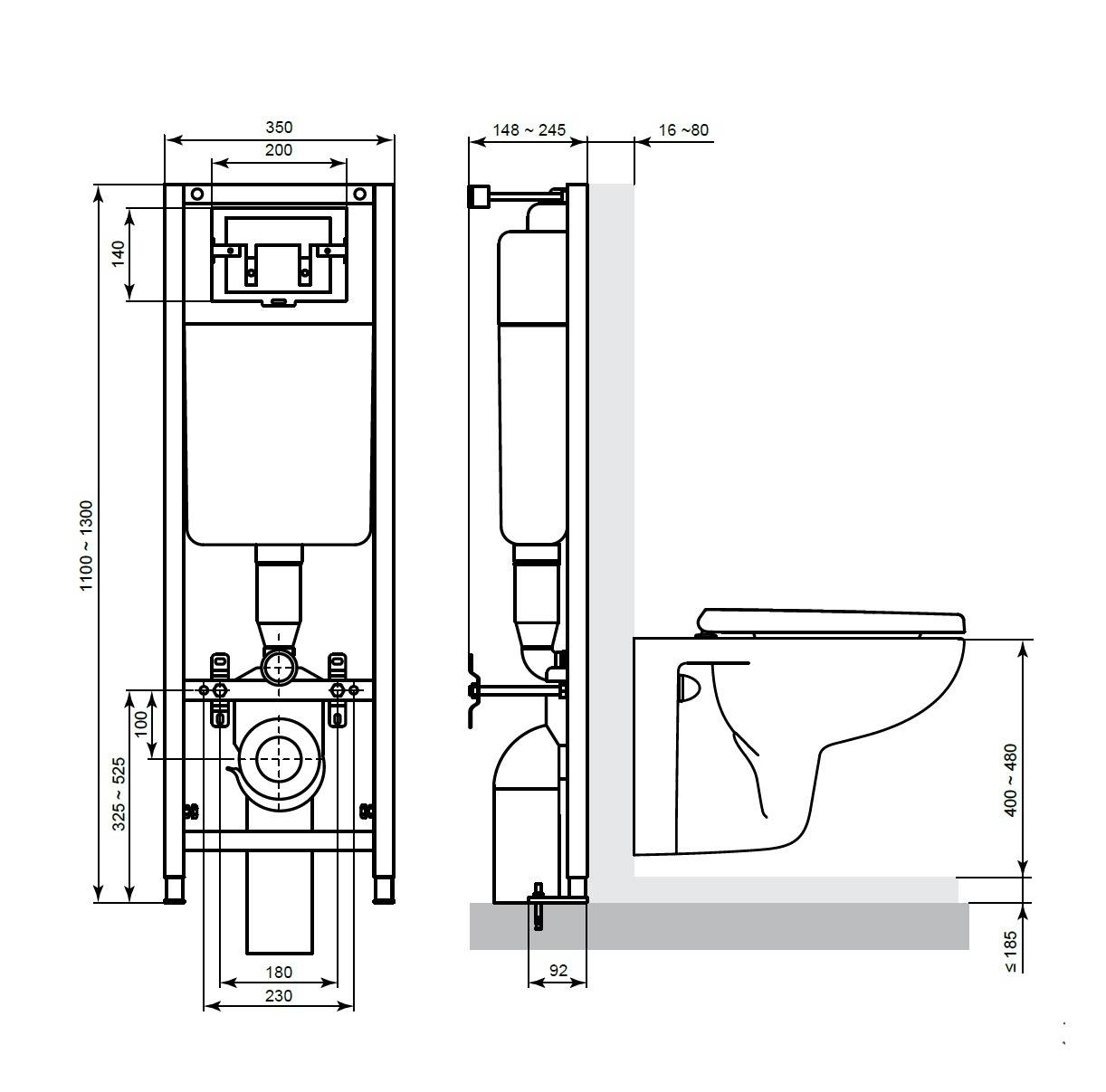 Система инсталляции для унитаза: видео-инструкция по монтажу своими руками, цена, фото