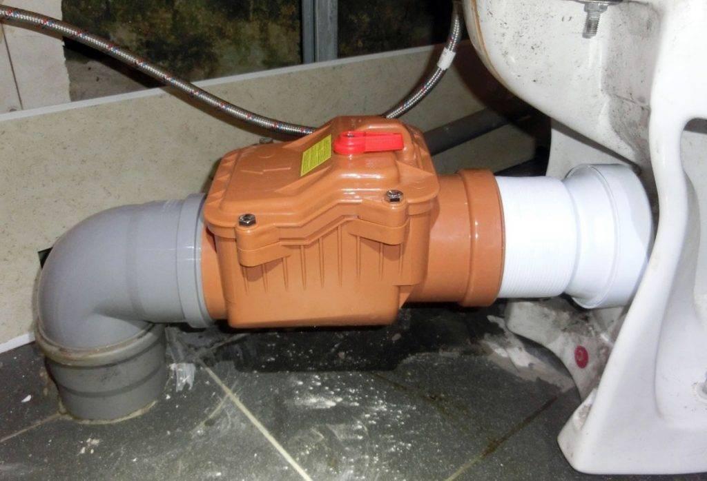 Обратный клапан для канализации: виды и установка