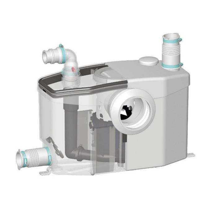 Канализационный фекальный насос с измельчителем для туалета