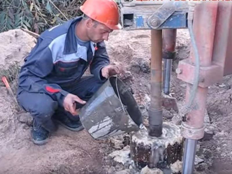 Технология тампонирования скважины на воду