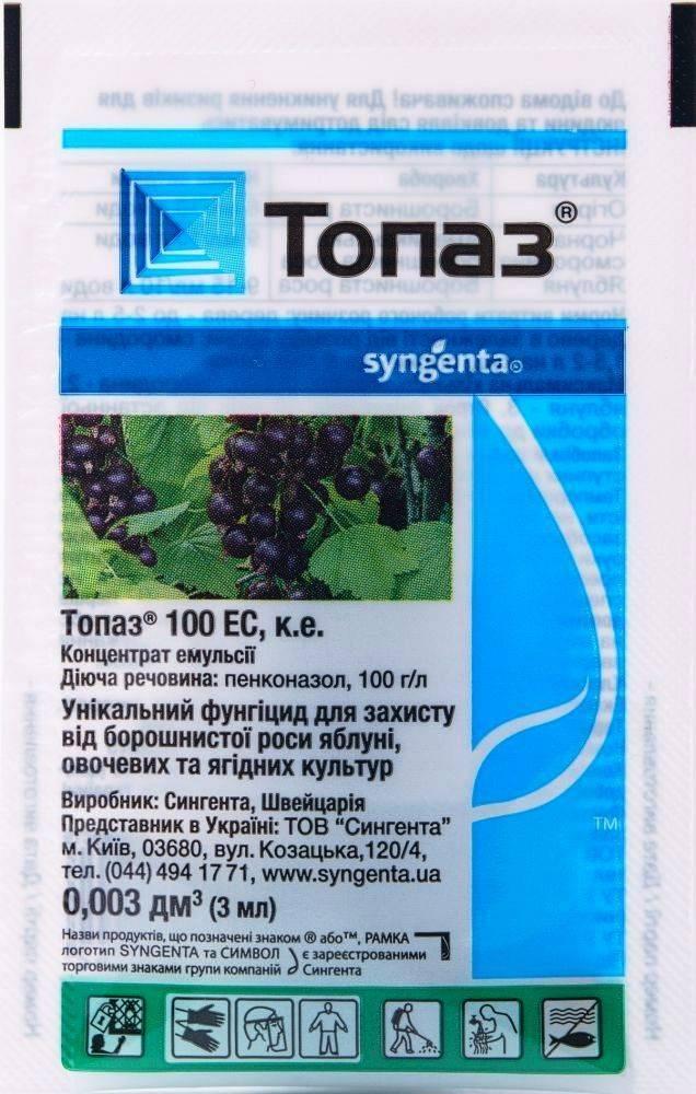 Топаз (фунгицид): инструкция по применению препарата и его свойства