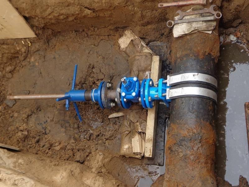 Врезка водопровода под давлением