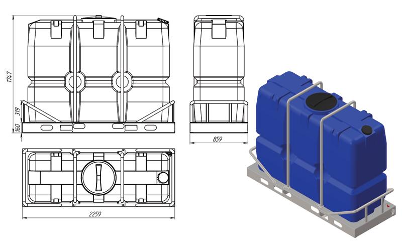 Пластиковые емкости и резервуары для воды от производителя!