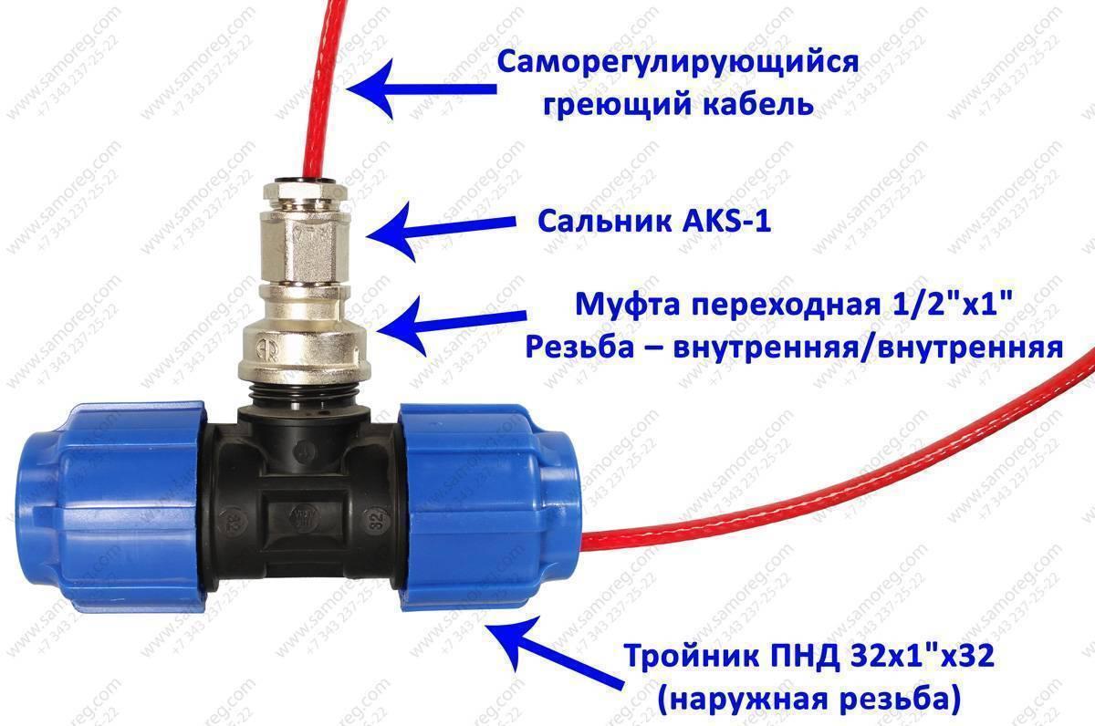 Как установить греющий кабель снаружи трубы - всё о сантехнике