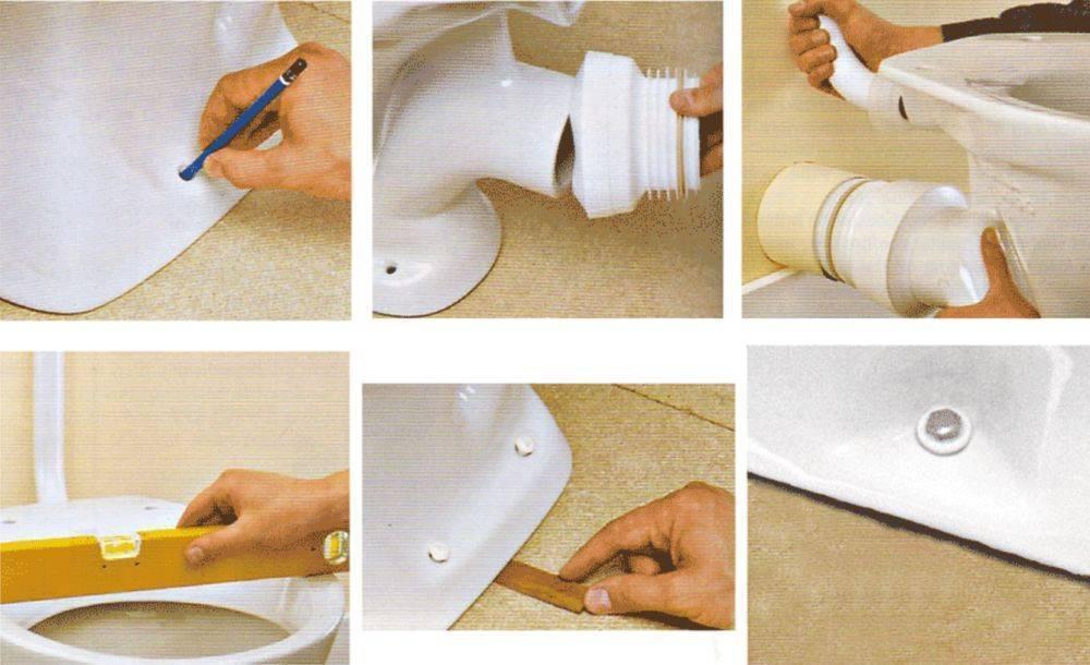 Как установить унитаз на плитку: методы, инструменты, порядок работы + видео