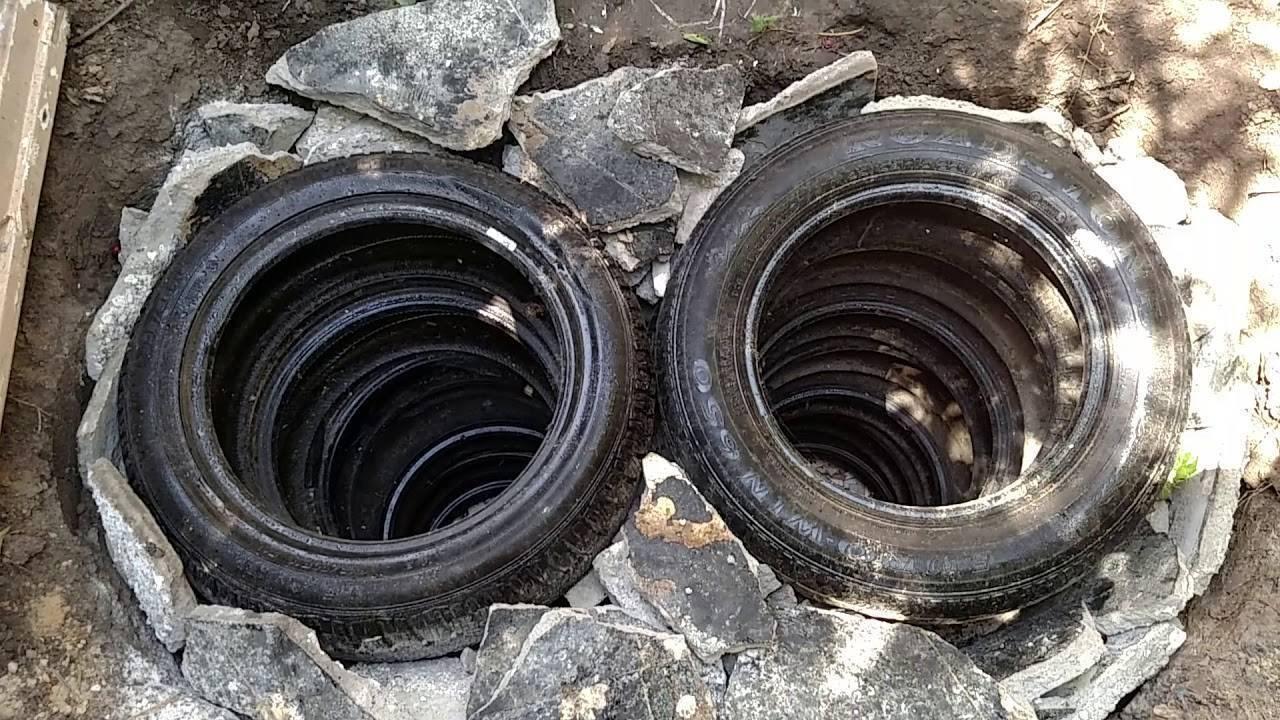 Выгребная яма из покрышек: Пошаговая инструкция монтажа +Фото и Видео
