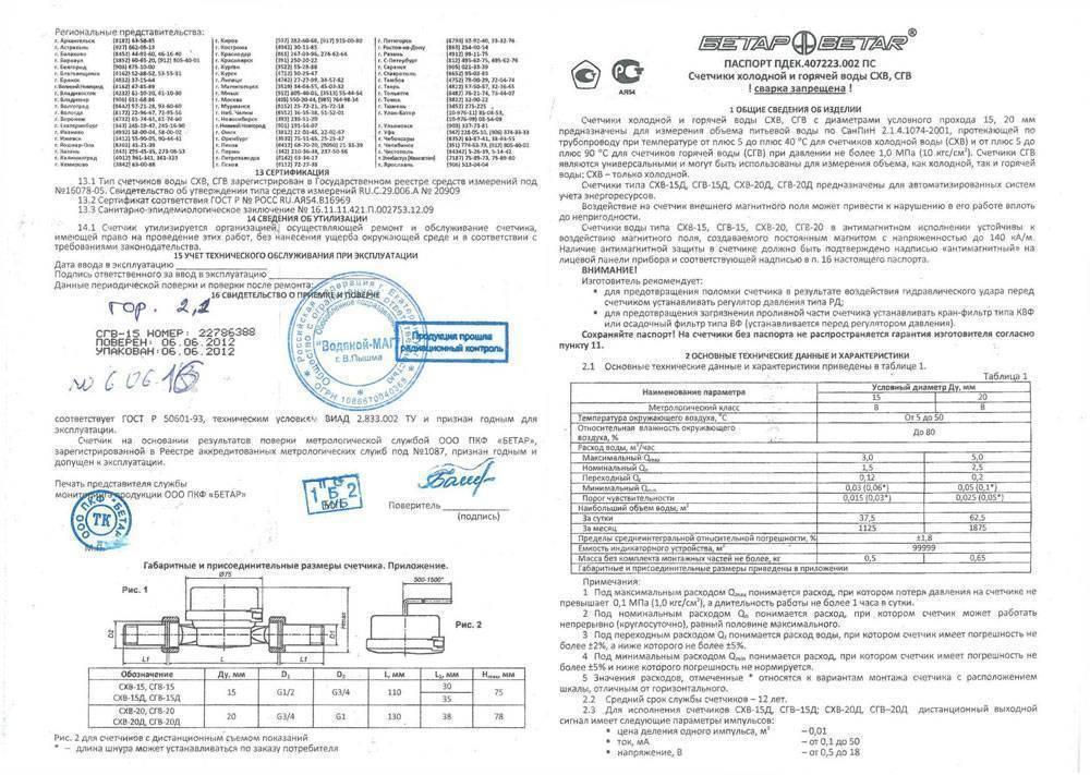 Как зарегистрировать счетчики на воду - инструкция