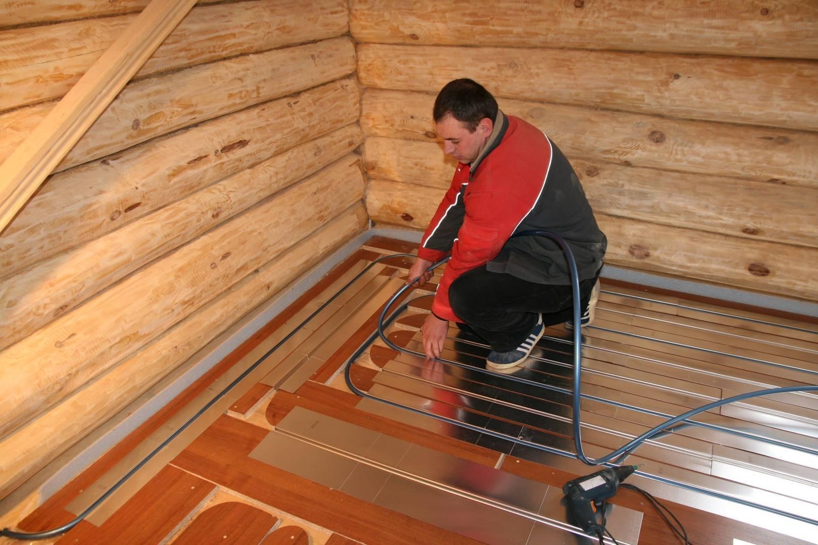 Теплый пол в бане своими руками водяной от печки: инструкция????