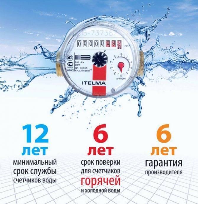 Счетчики воды: сроки работы и поверки - закон 2018