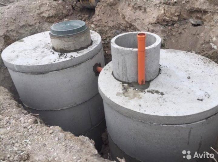 Септик из бетонных колец | septik50