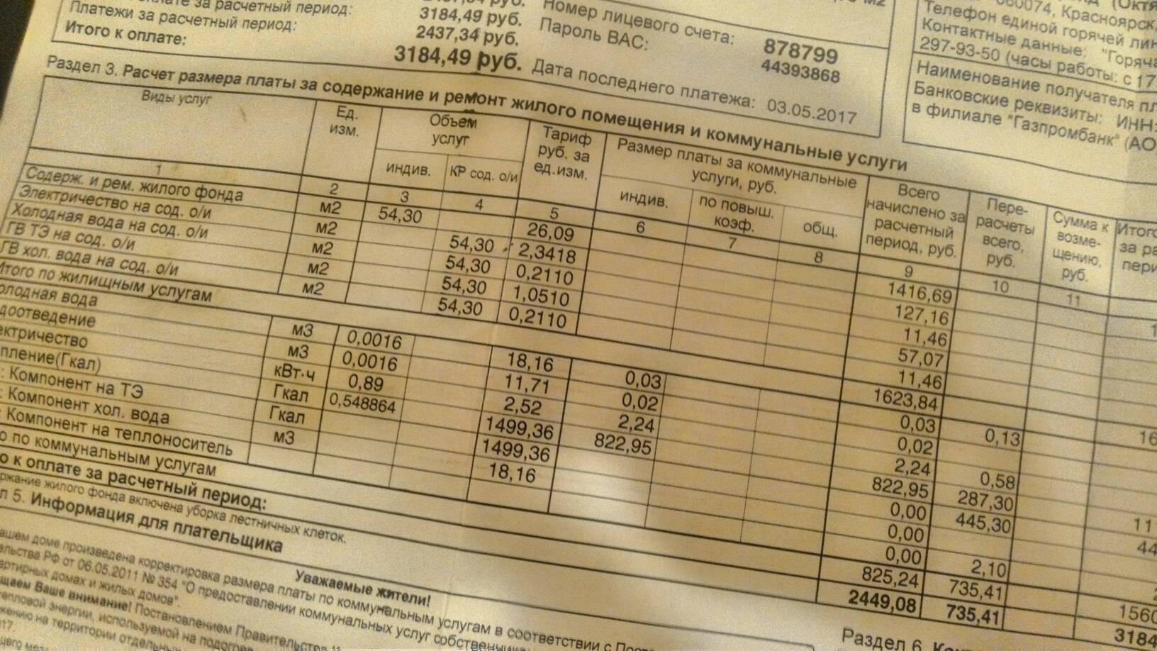 Как расшифровать квитанцию за коммунальные услуги. сокращения в квитанции жкх.