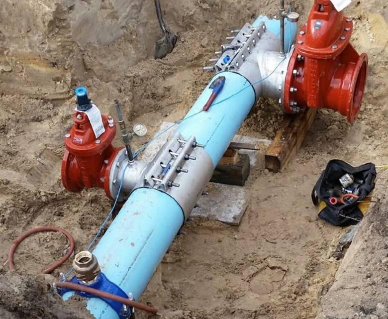 Врезка водопровода под давлением - самстрой - строительство, дизайн, архитектура.