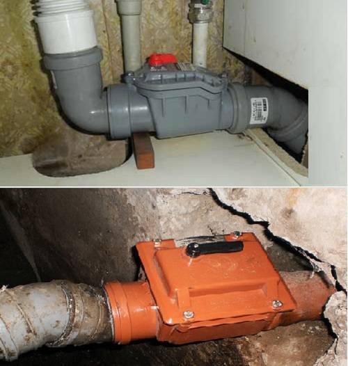 Установка обратного клапана на канализацию своими руками: 110 мм, 50 мм