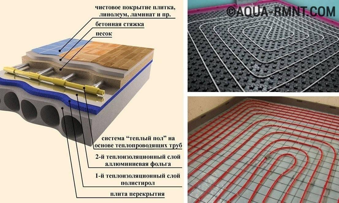 Правильная раскладка теплого пола – водяного и электрического