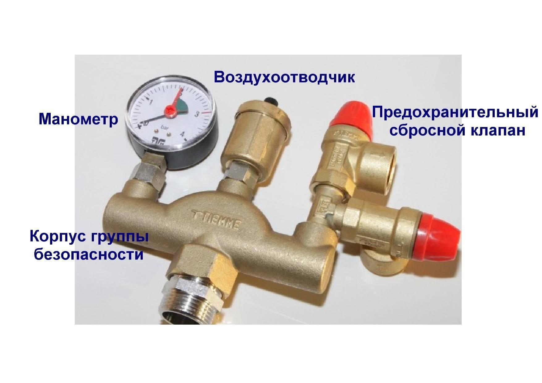 Предохранительный клапан для водонагревателя: установка и подключение