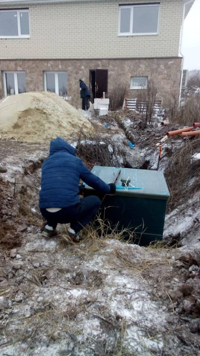 Самостоятельная установка септика зимой на даче