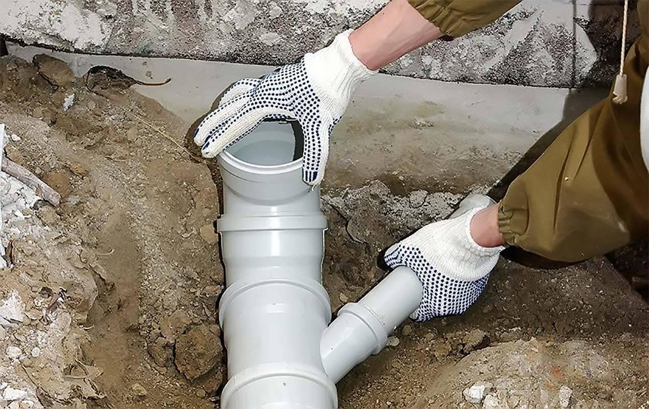 Прокладка канализационных труб в земле | технология укладки канализации