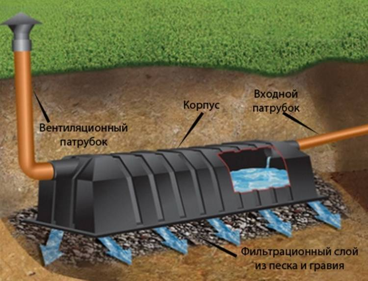 Поля фильтрации для канализации: условия размещения и создание своими руками