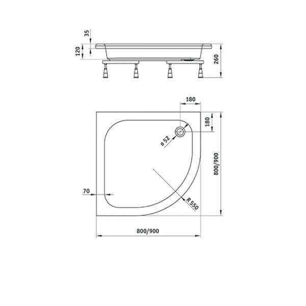 Поддоны для душевой кабины: формы и размеры, материалы, монтаж