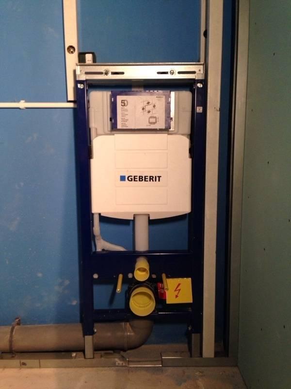 Установка инсталляции geberit для туалета: инструкция по монтажу унитаза, регулировка слива воды.