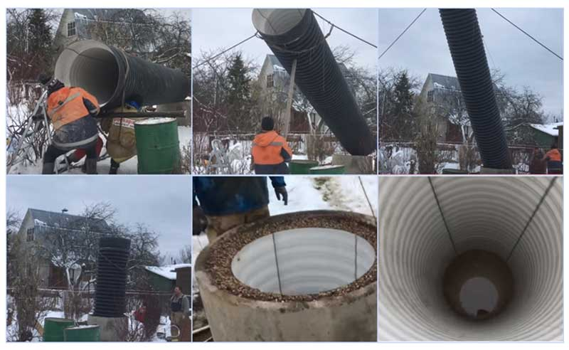 Углубление колодца пластиковой трубой большого диаметра для питьевой воды своими руками