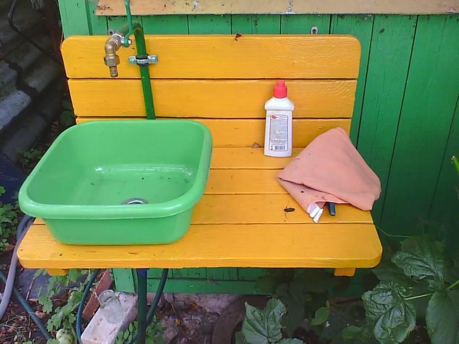 Умывальник для дачи своими руками – из подручных материалов, пошагово с фото, видео