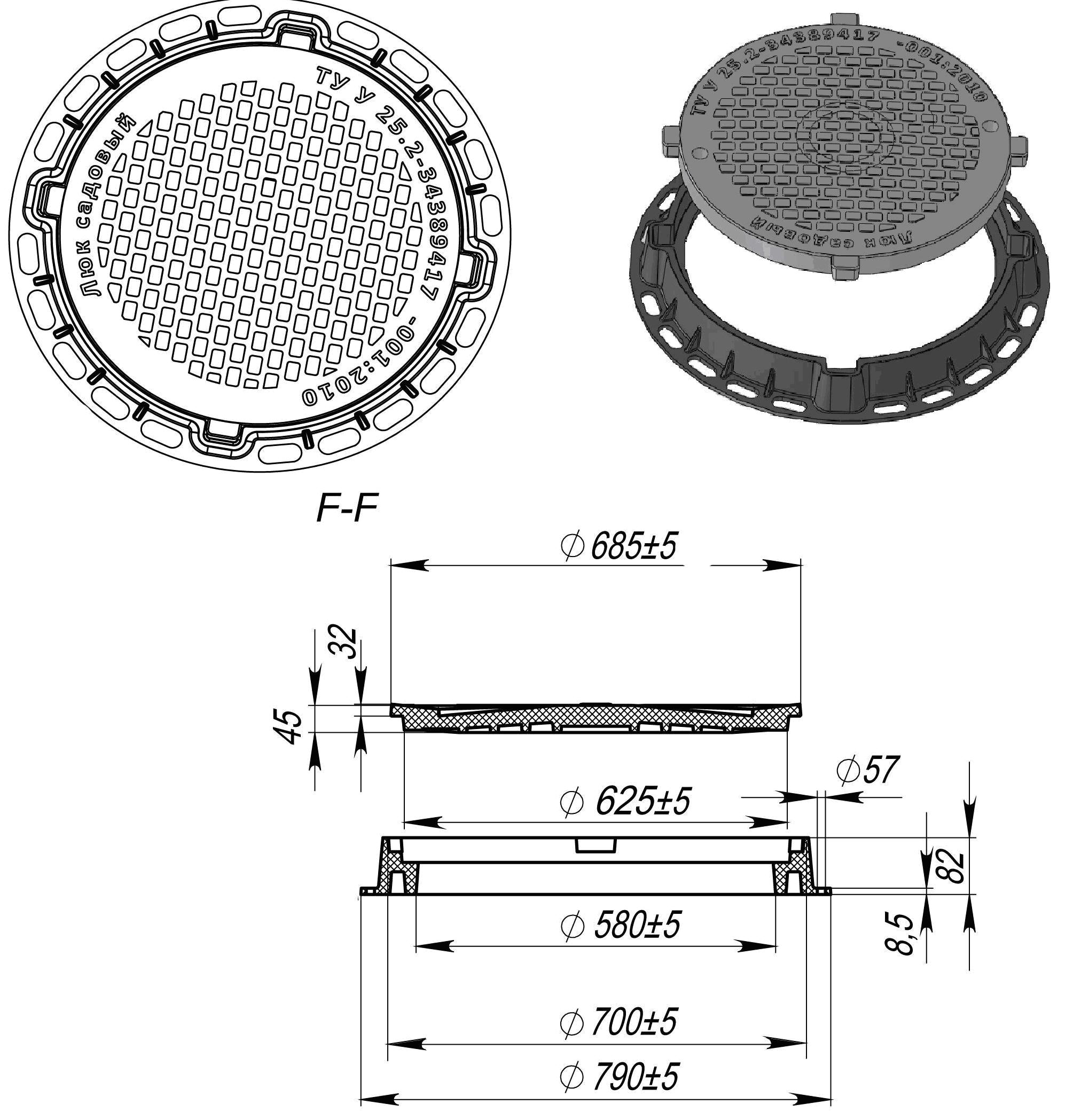 Канализационный люк - виды и характеристики пластиковых, чугунных, полимерных люков