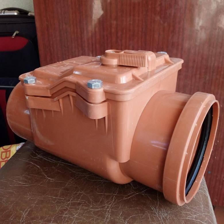 Обратный клапан для канализации 110 мм: применение и установка своими руками +фото и видео