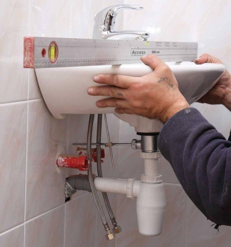 Как установить раковину в ванной - все о канализации