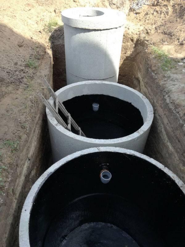 Монтаж септика из бетонных колец - за 1 день.