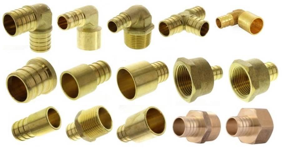 Фитинги для медных труб под обжим: типы и их особенности