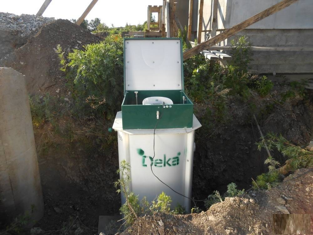 Установка автономная канализация дека