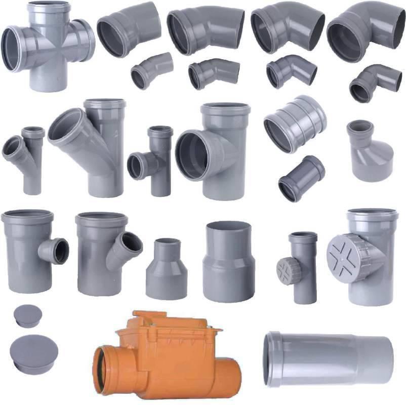 Фасонные части канализационных труб: пвх, размеры