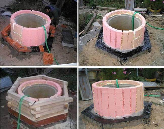 Утепление колодца из бетонных колец на зиму своими руками: обзор лучших способов