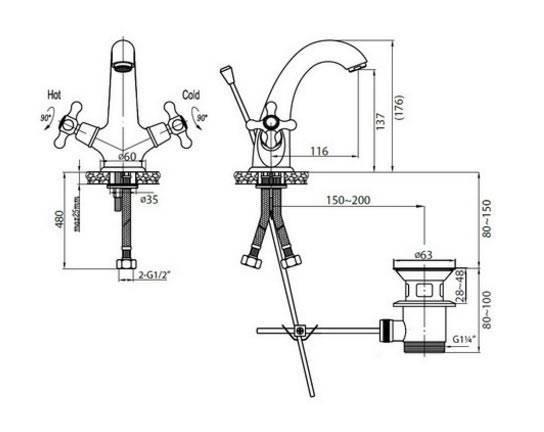 Установка смесителя с донным клапаном (2 видео) | про сантехнику
