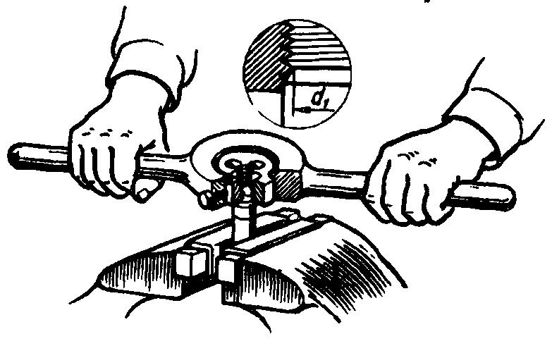 Разновидности плашек для нарезания резьбы на трубах. нарезание резьбы своими руками +видео