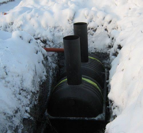 Консервация септика и его установка зимой, утепление