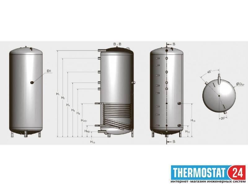 Бак аккумулятор в системе отопления: назначение и принцип действия