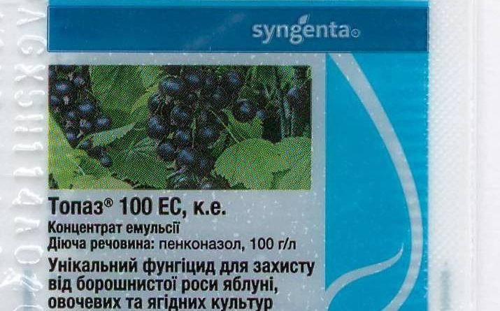 Фунгицид инструкция по применению, препарат топаз для винограда