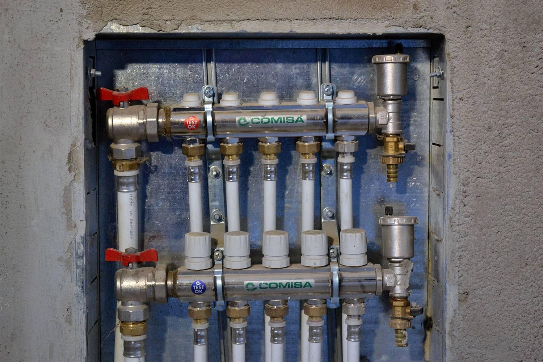 Устройство гребенки водоснабжения