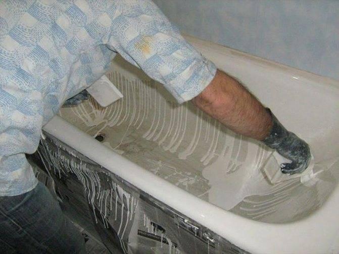 Как восстановить отколотую эмаль на металлической ванне