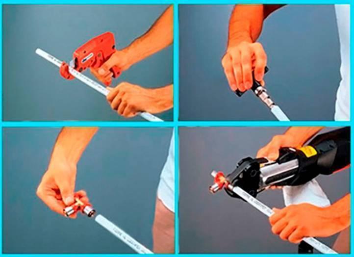 Как использовать пресс фитинги для монтажа металлопластиковых труб?