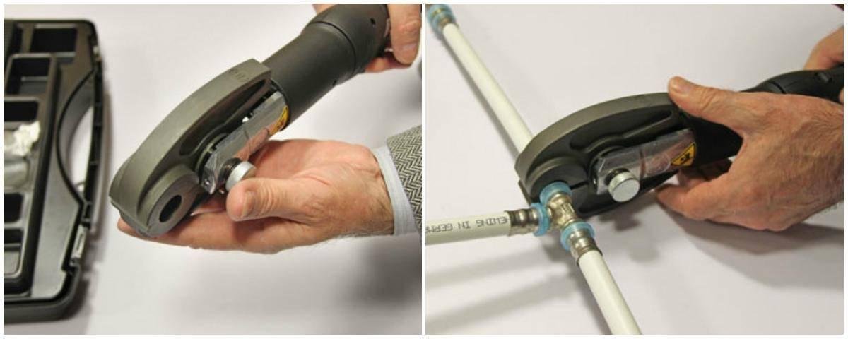 Обжимные фитинги для металлопластиковых труб - пресс-клещи