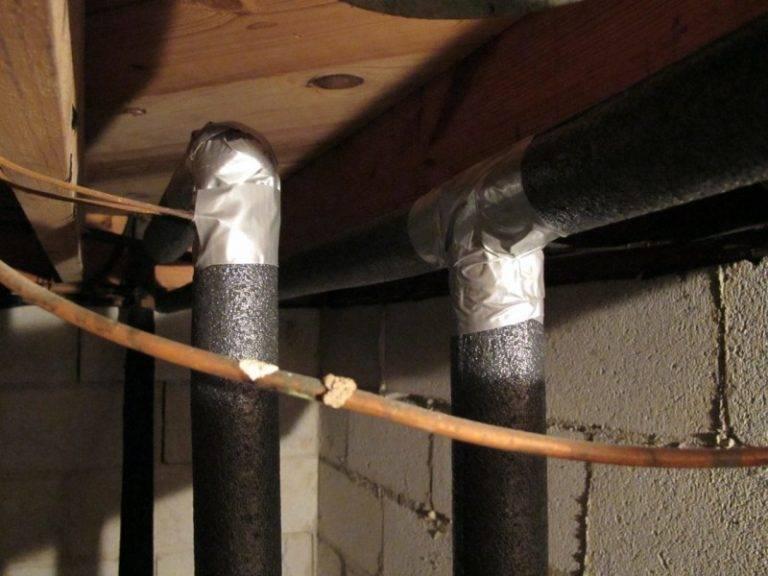 Утепление труб водоснабжения в частном доме: описание